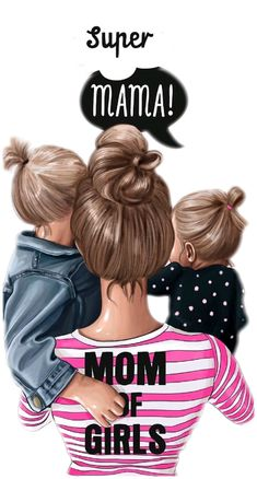 Mother And Daughter Drawing, Mother Daughter Quotes, Mother Art, Mom Daughter, Mother And Child, Baby Girl Drawing, Cartoon Girl Drawing, Girl Cartoon, Tattoo Kind