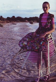 """Siri Tollerod / i-D Magazine March 2008 by Nick Haymes "" Fashion Images, Love Fashion, Fashion Outfits, Womens Fashion, Fashion Design, Hoop Skirt, Crazy Outfits, Bohemian Style, Bohemian Fashion"