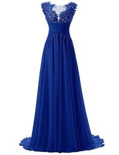 Dresstells Damen Lang Chiffon Promi-Kleider Maxi Abendkleider: Amazon.de: Bekleidung