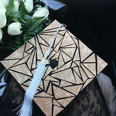 Cool dynamic decorated graduation cap