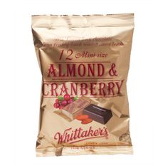 Almond & Cranberry Mini Slabs – Whittaker's – 180g | Shop New Zealand