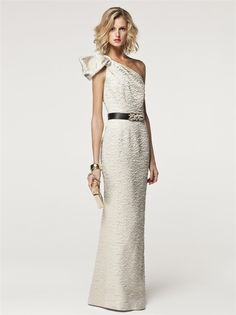 CH Carolina Herrera primavera13: Vestido largo blanco
