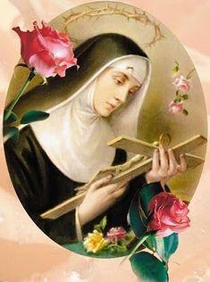 May Day of Santa Rita de Cassia. Pray to her for the impossible and desperate cases. Santa Rita De Cascia, St Rita Of Cascia, Catholic Saints, Patron Saints, Roman Catholic, Sainte Therese De Lisieux, St Therese, Oracion A Santa Rita, Sta Rita