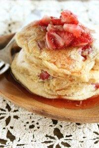 Strawberry Almond Pancakes