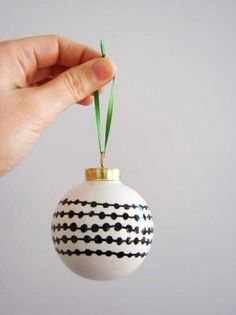 Christmas Crafts - Sharpie doodle ornaments