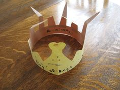 Crown of thorns to a crown of a King craft idea