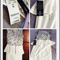 Frosty Sexy Dress Frosty: Contrast overlay SLVLE (D2) Bebe dress  trades/️ bebe Dresses