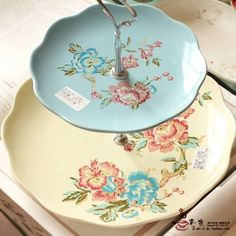 Floral Serving Dishes
