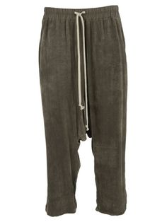 RICK OWENS Rick Owens Elasticated Cropped Trousers. #rickowens #cloth #pants-shorts