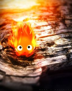 Calcifer - Miyazaki's Little Demon by DarkPixelCG.deviantart.com on @deviantART