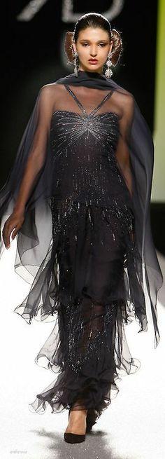 gatsby inspired dark grey sparkling evening gown