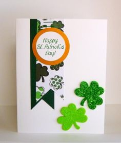 One last one by DCinkit - Cards and Paper Crafts at Splitcoaststampers Creative Mail Ideas, Work Aprons, How To Make Banners, Cricut Cards, Snail Mail, St Patricks Day, Handmade Cards, Irish, Give It To Me