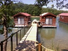 Rent a floating cabin on Lake Murray in Oklahoma.