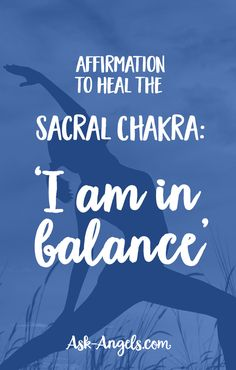 Affirmation to Heal the Sacral Chakra: 'I am in balance' Chakra Healing Music, Sacral Chakra Healing, Chakra Meditation, Kundalini Yoga, Chakra Art, Acupuncture For Anxiety, Reiki Quotes, Chakra System, Spiritual Guidance