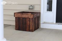 Planter Box from Pallets with Pdf Plans Pallet Planters & Compost Bins Submitted Tutorials