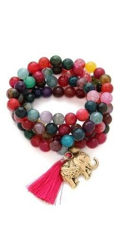 mala beads - these are so pretty! and the elephant! I want!