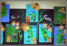 Jack and the Beanstalk art; plus tons of fun ideas! PAINTED PAPER: Art Show 2012- Fairy Tales and Fables