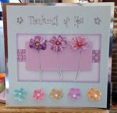 "Greeting Card (61) - 6""x6' makings 'Anitas Foiled Decoupage Kit' from docrafts"