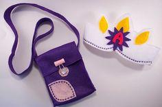 Tangled Rapunzel birthday princess crown and purple Flynn Ryder satchel... <3
