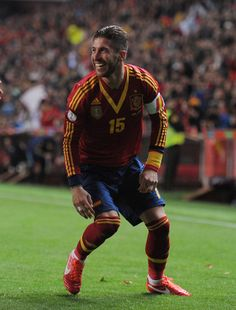 Sergio Ramos for Spain in the Confederations Cup 2013