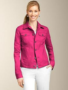 Talbots - Colored Denim Jacket | Jackets and Outerwear | Misses