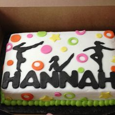 Gymnastics cake with sillouettes