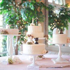 Fun Wedding Cake Toppers // Jenn Hopkins Photography //  Cake: Sugar Rush Confections // http://www.theknot.com/weddings/album/a-romantic-garden-wedding-in-jacksonville-fl-144341