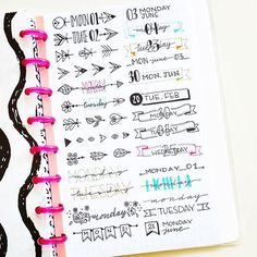 These #bulletjournalheaders from @nicoles.journal are just some of the ways you can up your bullet journal game. Check out my blog post (link in bio) for lots more ideas. #bulletjournalchallenge #bulletjournaljunkies #bulletjournallove #bulletjournalcom