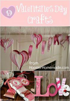 9 Valentine's Day Crafts from HoosierHomemade.com