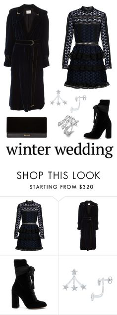 """STARY NIGHT / winter-wedding"" by giddygalmvr on Polyvore featuring self-portrait, Lanvin, Chloé, Diamond Star, Balmain, royal and winterwedding"