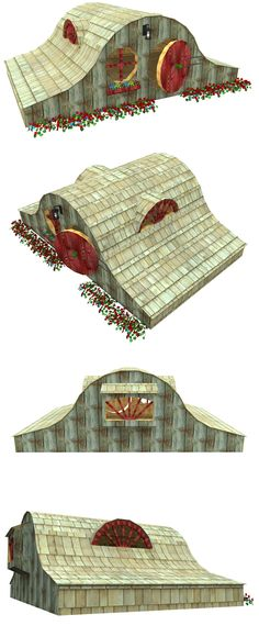 The Hobbit House playhouse, hosted on paulsplayhouses.com