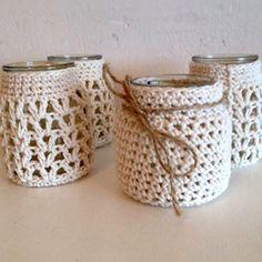 fundas para frascos crochet - Buscar con Google