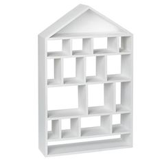 To go in the kitchen area. Four Story Wooden Wall Shelf (White) in Shelves & Hooks Kids Storage, Storage Shelves, Shelving, Shelf Hooks, Wooden Wall Shelves, Box Houses, Big Girl Rooms, New Room, Crate And Barrel