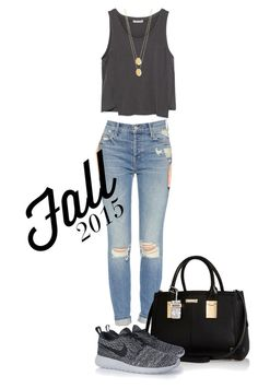 """""""Untitled #318"""" by mercedes-designs on Polyvore featuring Zara, Mother, River Island, NIKE and Jennifer Zeuner"""