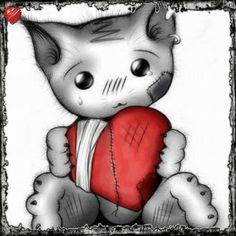 http://chatsdemoncoeur.forumactif.org/t730-la-depression-chez-le-chat  Ce chat est  vraiment chou ! Même si le dessin illustre un sujet triste ( la dépression des chats ), je trouve qu'il est magnifique.