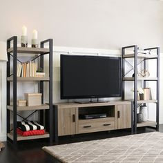 Bush Furniture Madison Cherry Buena Vista TV Stand and (2) 2-door Tall Library Storage | Overstock.com Shopping - The Best Deals on Entertainment Centers