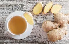 Chá de gengibre para prisão de ventre