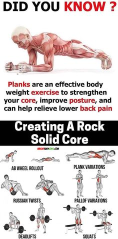 DID YOU KNOW Core Workout ✅ This fitness routine is composed of seven abdominal exercises carefully chosen to hit both the upper and lower ab muscles Use them to get a ripped core! ✅ How do you train to get sixpack abs You can do it with l - # Fitness Workouts, Weight Training Workouts, Fun Workouts, Yoga Fitness, Fitness Tips, Fitness Motivation, Ab Routine, Plank Workout, Abdominal Exercises