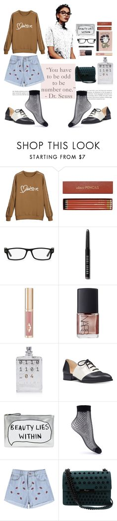 """""""Odd Man Out"""" by cassiecronk ❤ liked on Polyvore featuring Sloane Stationery, Chanel, GlassesUSA, Bobbi Brown Cosmetics, Charlotte Tilbury, NARS Cosmetics, Escentric Molecules, Nine West, Accessorize and Miss Selfridge"""