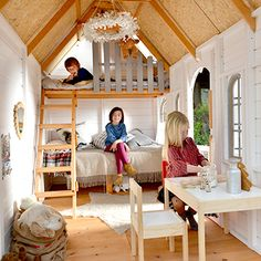 Playhouse Interior, Playhouse Outdoor, Backyard Playground, Backyard For Kids, Kids Clubhouse, Casa Kids, Tree House Plans, Wendy House, Kids Room Paint