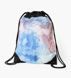 Ice Flowers Drawstring Bag Winter Fairy, Green Palette, Winter Solstice, Winter Landscape, Christmas Art, Winter Time, Whimsical, Pouch, Girly