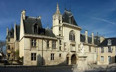 Palace of Jacques Coeur in Bourges, France;  After Coeur's appointment as Finance Minister to the King and being made a nobleman, he began the construction of his palace, which was finished around 1450;  photo by Dominique Authier, via Flickr.