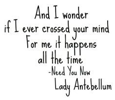 need you know-lady antebellum