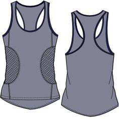 Patronaje industrial: patrones moldes ropa para marcas de nivel mundial Musculosa 3037 DAMA Remeras