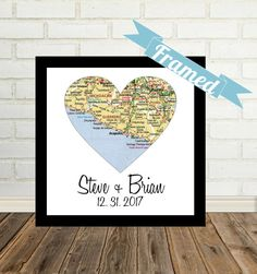 Unique Gay Wedding Gift for Gay Couple Map Art by DefineDesign11