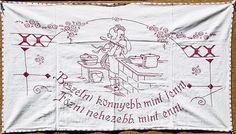 TÖRTÉNELMI KALEIDOSZKÓP...: FALVÉDŐK A KONYHÁBÓL / Többi képért katt a posztra ! Hungary, The Past, T Shirts For Women, Embroidery, History, Homeland, Wall, Decor, Fashion