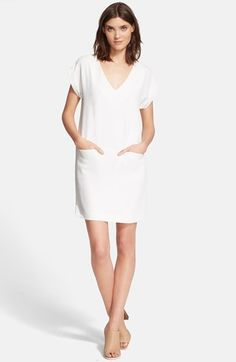 Vince Rolled Sleeve Shift Dress available at #Nordstrom