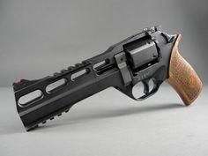 Chiappa Rhino 60DS .357 Magnum revolver, made in Italy.  The barrel is positioned uniquely at six o'clock to help mitigate recoil.