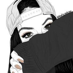 girl drawing black and white Hipster Girl Drawing, Tumblr Girl Drawing, Tumblr Drawings, Tumblr Art, Girl Drawings, Tomboy Drawing, Hipster Drawings, Tumblr Outline, Tumblr Hipster