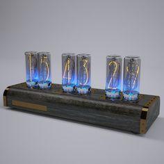 Nixie clock Lamp 3D Model .max .c4d .obj .3ds .fbx .lwo .stl @3DExport.com by moony